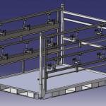 Réalisation 3D ordinateur conteneur