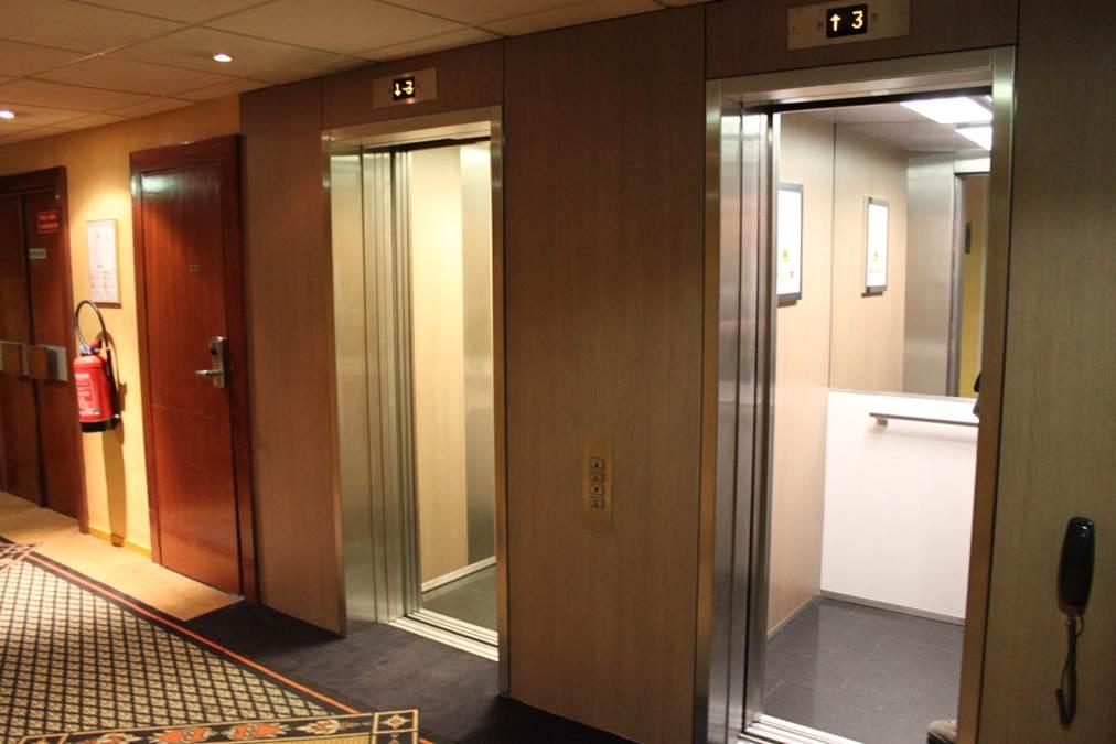 Rénovation des ascenseurs d'un hôtel