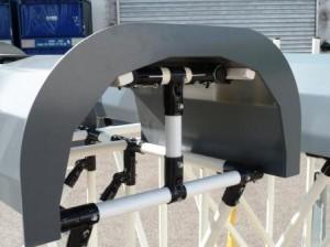 Support tubulaire pour une grosse pièce métallique