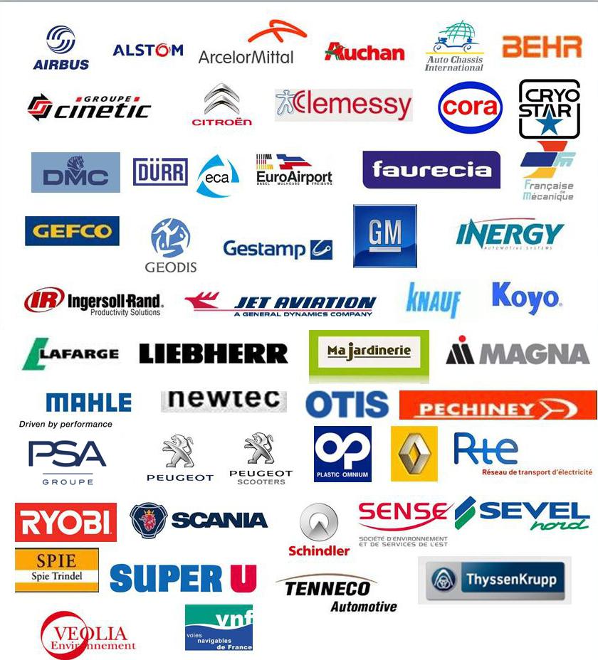 Références clients dans l'industrie en France et dans le monde