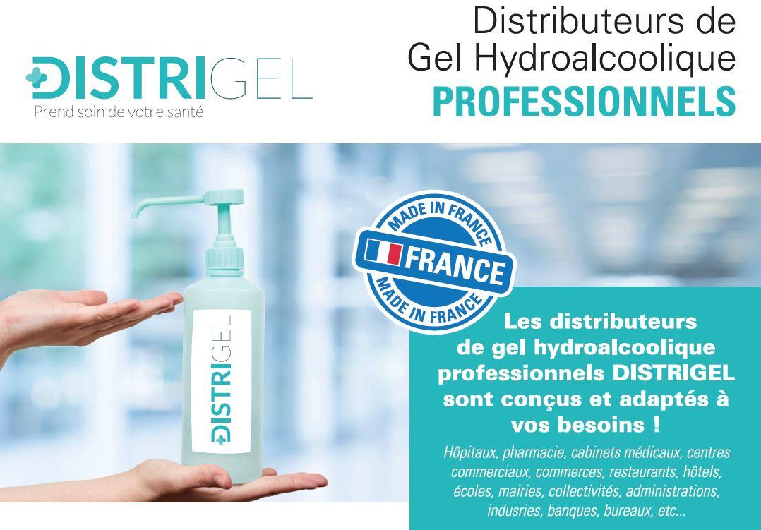 Distrigel - borne distributeur de gel hydroalcoolique professionnel